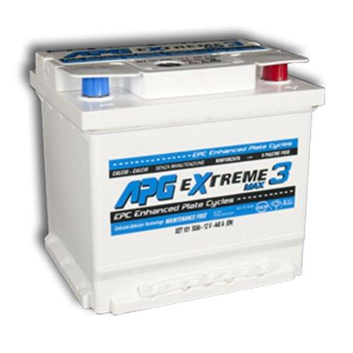 APG XET101 Extreme 3 Max - Batteria auto adatta anche per veicoli con sistema  START & STOP in acido libero, 50Ah