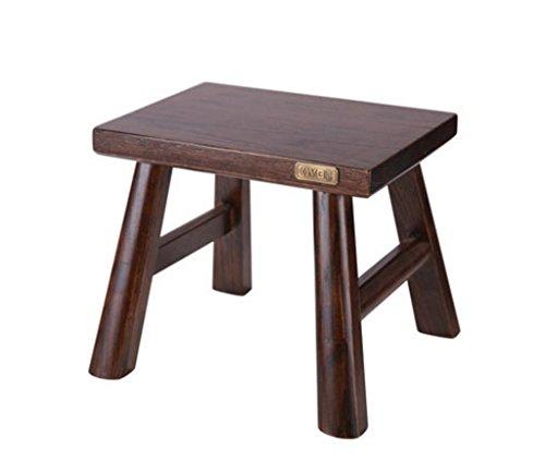 LYX Sgabello Sgabello basso in legno massello Sgabello cambiano Sgabello Divano moderno Sgabello quadrato semplice Sgabello all'ingrosso Tenone piccolo Sgabello panca in legno per adulto 28x20x24cm