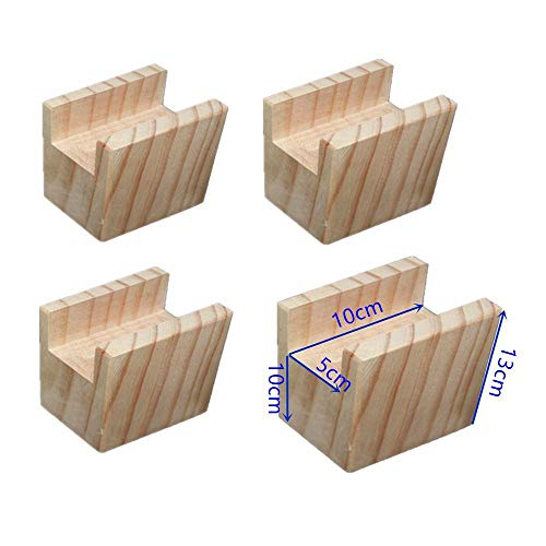 Möbelerhöher Betterhöhung Tischerhöher Elefantenfuß Bed Riser aus Holz 4 Stück