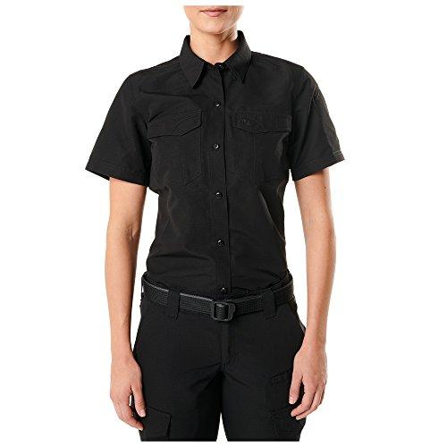 5.11 DAMEN 61314019X S S/S schwarz XS fast-tac Kurzarmhemd, damen, 61314, Schwarz, Large - 5.11 Holster Shirt