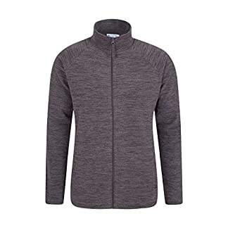 Mountain Warehouse Snowdon Mens Full Zip Fleece - Midlayer Pullover, Breathable Jacket, Soft Outerwear, Smooth Fleece Top - for Winter, Travelling 9