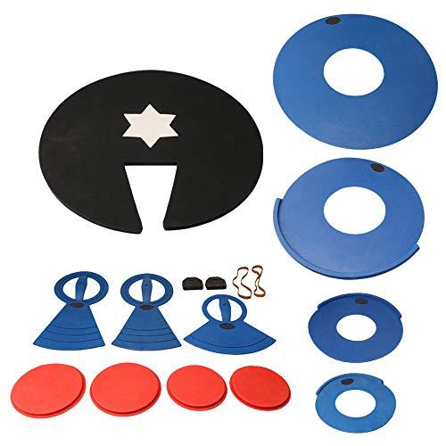 Yibuy 10 - 22 pulgadas almohadillas de espuma silenciador Stretch Fixed Feet Drum Practice Kit