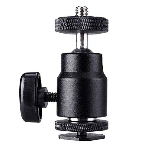 "Blitzschuh Adapter 1/4"" Kugelkopf Hot Shoe Mount Blitzschuh Halterung Blitzschuhadapter Kamera Stativ Gewinde 360-Grad-Blitzschuhhalterung für Kameras, Camcorder, Smartphone, Gopro, Ringblitzlicht"