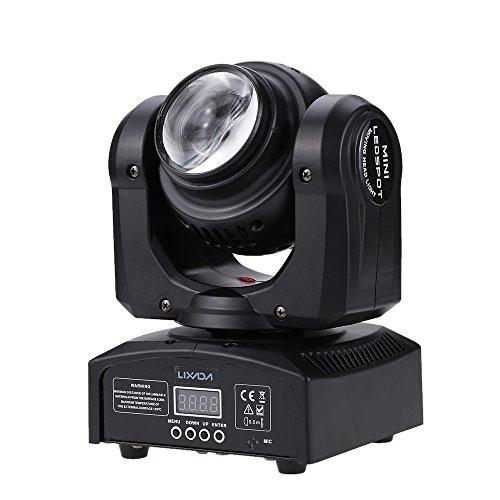 447b49c2ebe El Mejor Precio Lixada DMX 512 Luz de Escenario, 2 LED 35W RGBW, 15/21  Canal, Lámpara de Patrón de Luz de la Etapa LED de Cabeza Móvil Giratoria  Infinita de ...
