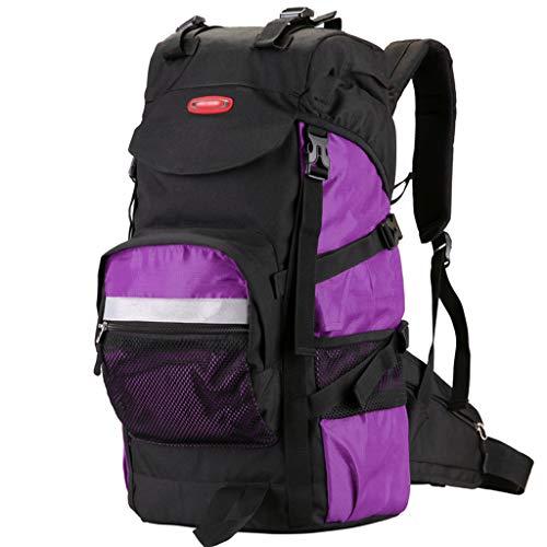 XYW-0006 Outdoor-Bergsteigenbeutel Reisetasche Oxford Textilreisereise wasserdicht reißfest für Damen und Herren lila - mit Regenschutz