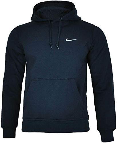 Nike Herren Pullover Hoody Classic Fleece, Dark Obsidian/dk Grey Heather/White, M, 404538 -