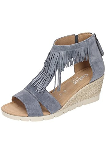 Gabor Shoes Damen Comfort Plateau, Blau (Denim (Jute) 45), 43 EU