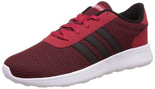 adidas Lite Racer, Chaussures de Sport Homme, Noir, EU Rouge (rouge puissant / argent mat (Plamat))