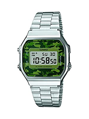 Casio Collection – Reloj Unisex Digital con Correa de Acero Inoxidable – A168WEC