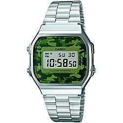 Casio Herren-Armbanduhr Digital Quarz Edelstahl A168WEC-3EF