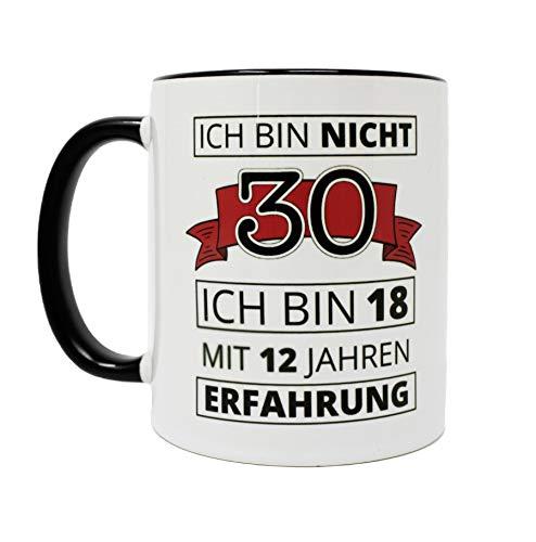 Close Up 30. Geburtstag Tasse Ich Bin Nicht 30 - weiß, aus Keramik, spülmaschinengeeignet, Fassungsvermögen ca. 320 ml