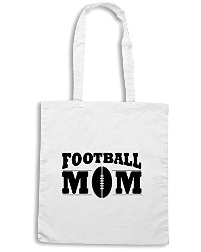 T-Shirtshock - Borsa Shopping WC1038 Football Mom Maglietta2 Bianco