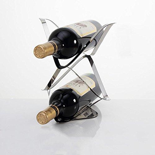 Edelstahl - Wein Rack Ornamente Wein Frame Mode - Auszeichnungen,Zwei Outfit (Auszeichnungen 2)