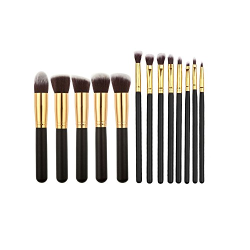13 x Kosmetik Make-up-Pinsel Brush Bürste Kit Gold
