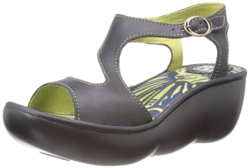 FLY London - Sandali Bianca, Donna Nero (Black)
