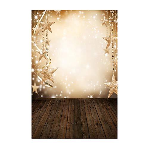 ODJOY-FAN Weihnachten Fotografie Hintergründe Schnee Vinyl 3x5FT Hintergrund Fotografie Studio Weihnachten Fotostudio 3D Hintergrund Wandtattoos Dekor 90x150cm(G,1 PC)