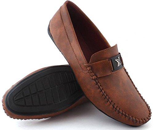 REVOKE Mens Brown VL Casual Loafers (9 UK/IND, Brown)