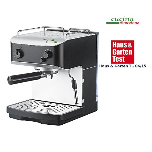 Cucina di Modena Siebträgermaschinen: Siebträger-Espressomaschine ES-1000 m. Automatikmodus (Siebträger-Espresso-Maschinen) - Super Automatische Espresso-maschine