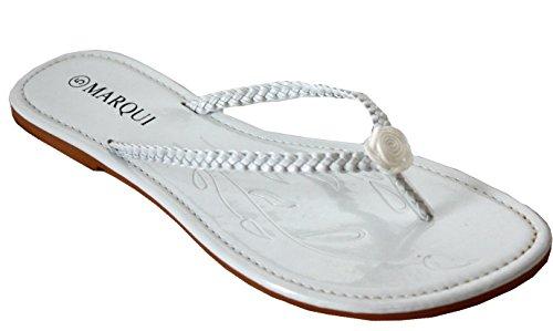A&H FootwearW930-2 - Sandali  da ragazza' donna White/Flower