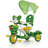 Baybee Mickey 2 In 1 Trolly Cycle With Canopy With Parent Control Trolly Cycle For Kids/Baby ( Green )