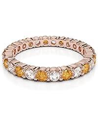 AGDR-1111 Bague d éternité en or rose 18 carats certifiée ... a047fa5f14f2