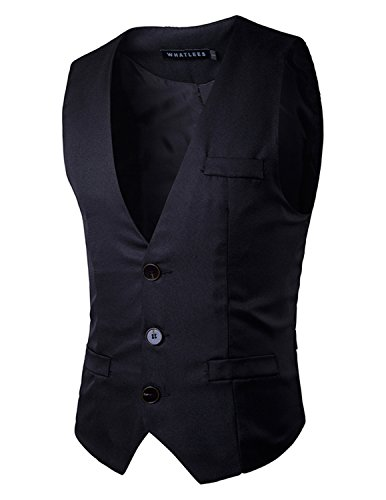 YCHENG Clásico Chaleco Hombre Vestir de Boda Casual Slim Fit Blazers Sin Mangas