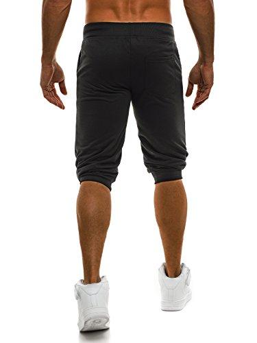 OZONEE Pantaloni Uomo Pantaloncini pantaloncini Pantaloni Sport Fitness Tempo libero Shorts Pantaloni tuta Bermude STREET STAR 7110 Nero