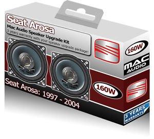 SEAT AROSA Armaturenbrett-Lautsprecher Mac Audio 10,2cm 10cm Auto-Lautsprecher-Set 160W (Audio Unbegrenzte Power)