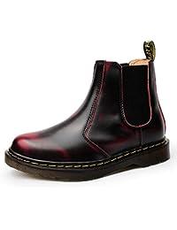 JACKSHIBO Damen Herren Klassischer Chelsea Stiefel Boots Winter Warme  Gefüttert Winterschuhe Schneestiefel b84752905d