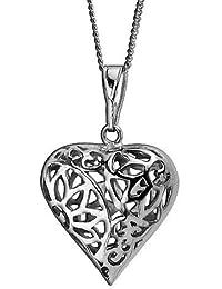 Kette / Halskette AE finesse, 925 Silber - Sterling Silber, Anhänger Herz