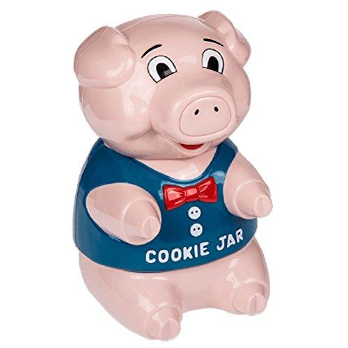 Out of the blue 71/3127 Boîte à Biscuits Cochon, avec Bruit (Piles INCL.), Plastique, Rosa, 21,5 x 20 x 25 cm
