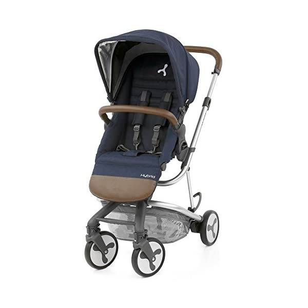 BabyStyle Hybrid City Stroller, Simply Navy Babystyle A truly unique innovative and contemporary designed single stroller Sleek, modern and versatile travel system Smaller wheels, perfect for the city 1