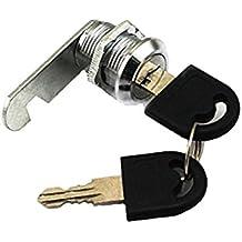 Doutop Verrou de porte pour Armoire, serrure pour boîte aux lettres tiroir d'armoire 16 mm 20 mm 25 mm 30 mm avec clés, 30mm