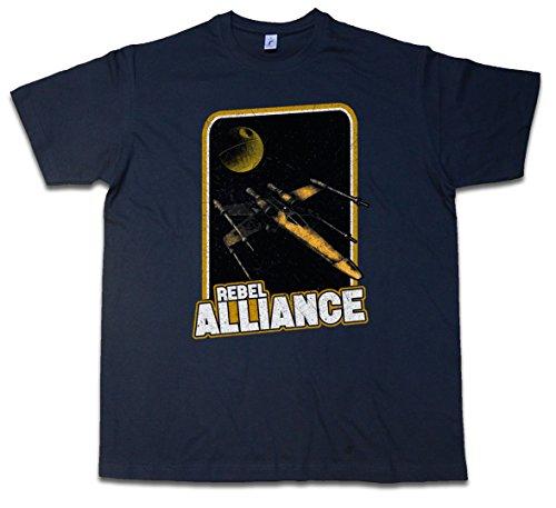 REBEL ALLIANCE T-SHIRT - X Red Star Krieg Allianz Imperium der Five Wars Sterne Wing Skywalker Größen S - 5XL (Wars Rebel Stars)