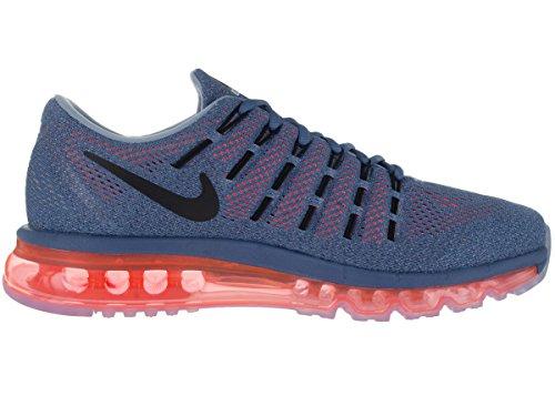 Nike Air Max 2016, Chaussures de Running Entrainement Homme, Blanc, Media Multicolore (Azul / Naranja / Negro / Gris (Ocn Fg/Blck-Brght Crmsn-Bl Gry))