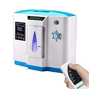TOPQSC Sauerstoffkonzentrator tragbarer Sauerstoff Generator Konzentrator 90% hoher Reinheitsgrad 1-6L / min für Haus, Reise, Auto-Gebrauch (nicht batteriebetrieben)