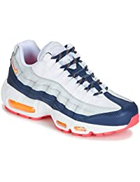 info for 1c31b dd018 Nike AIR MAX 95 W Sneaker Damen Weiss Blau Orange Sneaker Low