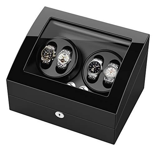 Automatische uhrenbeweger für 10 Uhren drehende hölzerne selbstaufziehende Uhrenbeweger für Rolex Super leiser Motor 6 U/min 4 Modus