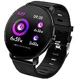 POIUDE Smartwatch Wasserdicht Touch Screen Wristwatch Aktivitätstracker mit Pulsmesser Blutdruckmessung Smart Watch
