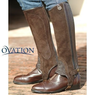 Ovation-Child Suede RIBB Half Chaps, black, C16-18by Ovation Childs Suede Half Chaps