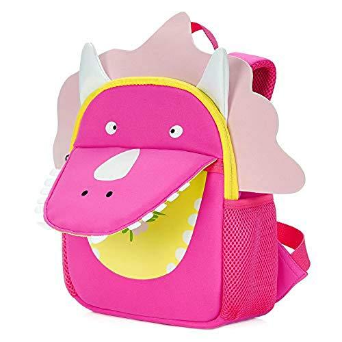 Vorschul Kostüm - Pro Hight Kinder-Rucksäcke für Kleinkinder, Schultasche, Tier-Vorschul-Rucksack, Reisetasche, 6-10 Jahre, Dinosaurier Triceratops L