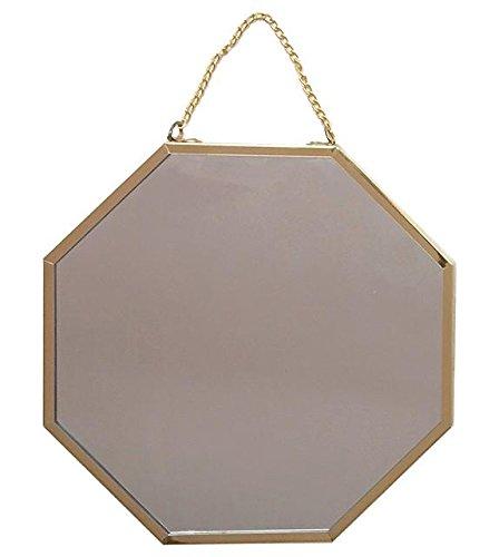 espejo de pared octogonal dorado