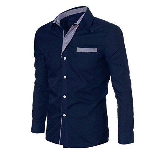 Amlaiworld Uomo primavera camicie ,nuova moda lusso manica lunga elegante camicie