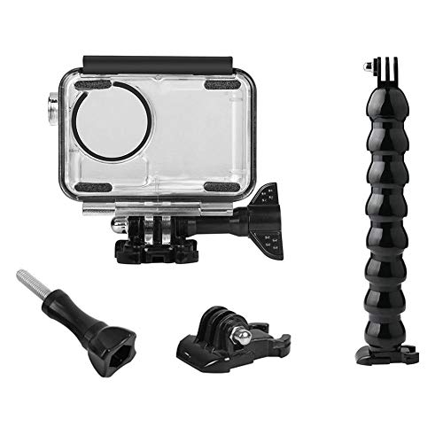 YouN 4pcs Waterproof Case 8 Section Gooseneck Base Screw for DJI OSMO Action Cam Spy Car Key