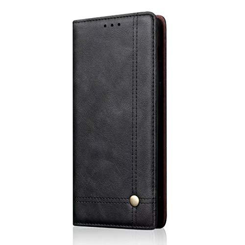 A70 Handyhülle Case für Samsung Galaxy A70 Hülle PU Leder Geschäft Tasche Flipcase Cover Schutzhülle Handytasche Skin Ständer Klappbar Schale Bumper Magnet Brieftasche Ledertasche schwarz