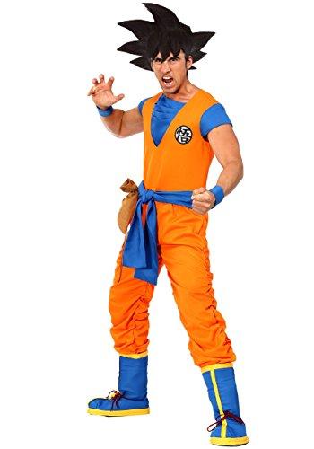 Dragon Ball Z Authentic Goku Men's Fancy Dress Costume Medium