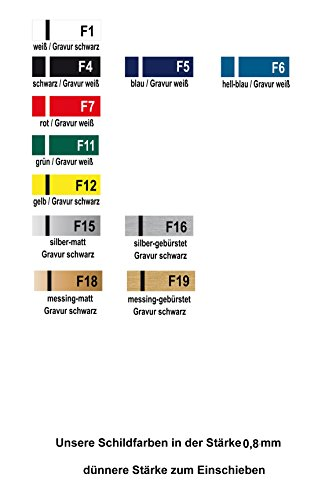 Selbstklebendes Namensschild aus Kunststoff - 4