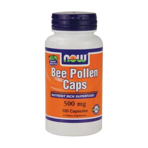 Now Foods, Bee Pollen Kapseln, 500 mg, 100 Kapseln