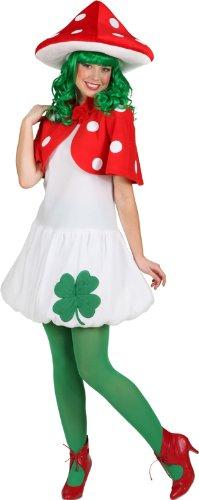 Orlob Damen Kostüm Fliegenpilz zu Karneval Fasching Größe 36 bis 40
