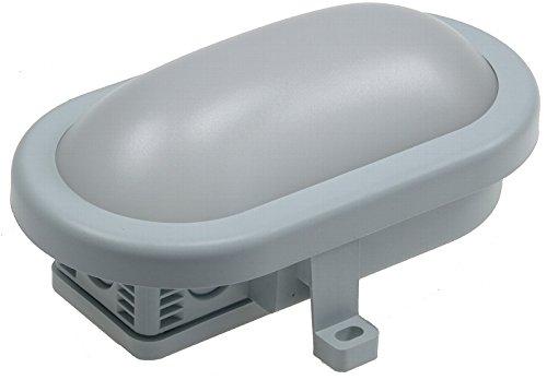 LED Oval-Armatur / Feuchtraum-Leuchte 165x115x70mm, 5,5W, 450lm, 6500K, grau, A+